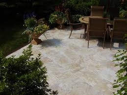 Travertine Patio Enchanting Travertine Patio Paver Patterns With A Set Of Vintage