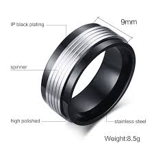 aliexpress buy vnox 2016 new wedding rings for women aliexpress buy vnox black spinner rings for men jewelry