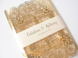 gold wedding invitations lace wedding invites lace wedding invitations