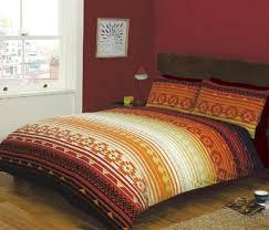 The Range Duvet Covers Kilim Stripe Terracotta Bedding Range
