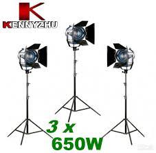 Continous Lighting Kit Video Studio Fresnel Spotlight Tungsten Light