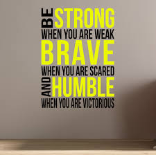 home gym be brave be strong wall fitness decal quote for gym