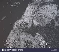 Satellite View Map Map Of Tel Aviv Israel Satellite View Map In 3d Black And