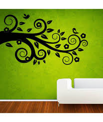 Snapdeal Home Decor 48 Off On Uberlyfe Purple Tree With Birds Wall Sticker Home Decor