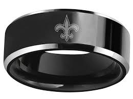new orleans wedding bands new orleans saints black tungsten wedding band crazycoolcustomtees