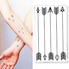 temporary tatoos small bow arrows flash tattoos keep 3