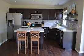 Kitchen Reveal Dark Cabinets Light Counters Hometalk - Kitchen backsplash with dark cabinets