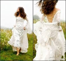 celtic wedding discount modern 2017 celtic wedding dresses bell sleeve