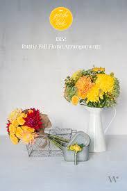 Fall Floral Arrangements Diy Wedding Wednesday Rustic Fall Floral Arrangements The