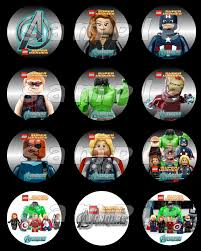 avengers invites 1 page of qty 12 2 5 round stickers