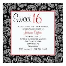 sweet 16 birthday invitations u0026 announcements zazzle canada