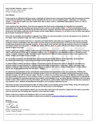letter to mod of canada