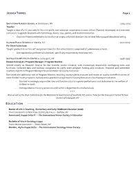 sample resume for substitute teacher substitute teacher