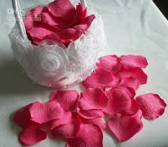 Silk Rose Petals Silk Rose Petal Pink Color Wedding Favour Flower Petals 15