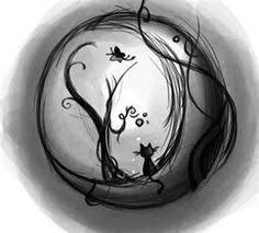 cat and moon tattoo art pinterest moon tattoo and cat