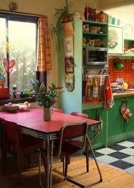 Bohemian Kitchen Design Colorful Retro Kitchen Design Idea With Bohemian Touch Retro