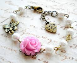 flower girl charm bracelet flower girl bracelet gift for lavender bracelet pastel