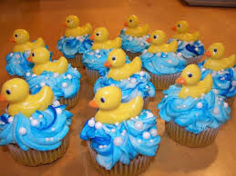 Rubber Ducky Baby Shower Decorations Rubber Ducky Baby Shower Cupcakes 3768