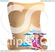 clipart of a happy halloween witch sitting on a broom and