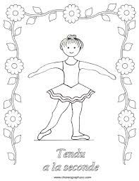 ballet coloring pages google search second position ballet