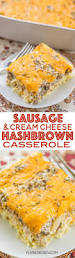 sausage hashbrown breakfast casserole recipe hashbrown
