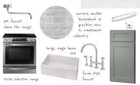 Farmhouse Style Kitchen by Grey U0026 Carrera Marble Modern Farmhouse Style Kitchen The Vintage