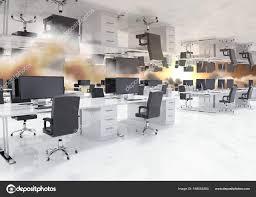 bureau inversé inversé d office dans les nuages photographie vectorfusionart
