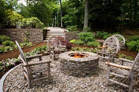 Flagstone Firepit Rustic Style Pits Hgtv