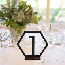 acrylic table numbers wedding black mirror gold silver acrylic table number wedding party