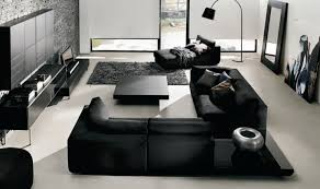 contemporary living room color schemes with black furniture ideas