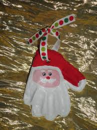 how to make a clay santa print ornament