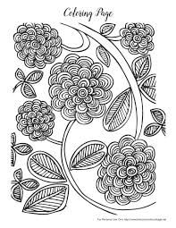 free spring coloring pages for adults pretty flowers