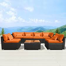 Amazoncom  Modenzi GU Outdoor Sectional Patio Furniture - Patio furniture sofa sets