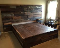 Wood Platform Bed Reclaimed Wood Platform Bed The Wood Fool
