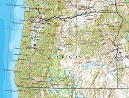 map of oregon state oregon maps state county city coast road map