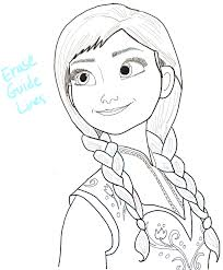 coloring fabulous frozen anna drawing step15 princess