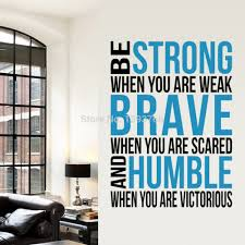 brave strong humble inspirational saying quotes diy removable wall