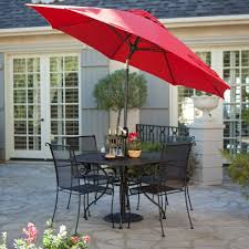 Patio Dining Set With Umbrella Sleek Paxton Outdoor Dining Set