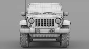 chief jeep wrangler 2017 jeep wrangler unlimited chief jk 2017 3d model cgtrader