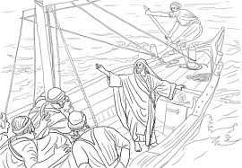 jesus stilling storm coloring free printable coloring pages