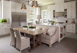 traditional kitchen design with rectangular wood kitchen table