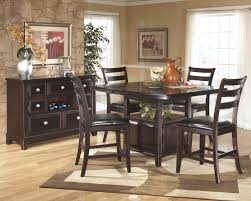 Dark Dining Room Table by Ridgley Dark Brown 6 Pc Counter Height Dining Table Barstools And