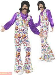 1960s Halloween Costume Adults Mens 1960s Groovy Hippie 60s Fancy Dress Party Halloween