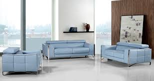Baby Blue Leather Sofa Casa 1504 Modern Light Blue Leather Sofa Set