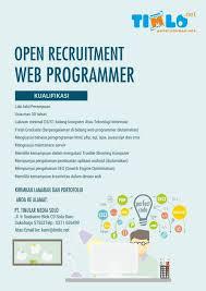 lowongan kerja desain solo lowongan kerja 2016 lowongan web programmer di pt tinular media solo