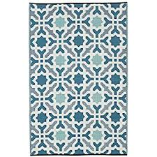Blue And Green Outdoor Rug Fab Habitat 5 By 8 Lhasa Indoor Outdoor Rug