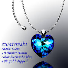 swarovski heart necklace blue images Eurocrystal swarovski crystal pearl necklace earring jpg