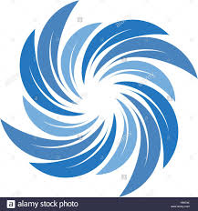 isolated abstract blue color spining spiral logo swirl logotype