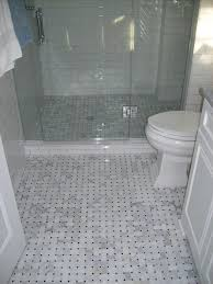 Tile Bathroom Floor Ideas Bathroom Marble Tile Shower Floor With Ceramic Subway On The