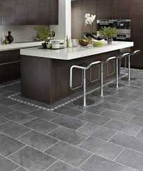 Tiles For Kitchen Floor Ideas Gray Tile With Dark Brown Cabinets Kitchens Pinterest Dark